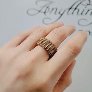 Gold mesh ring - size 7